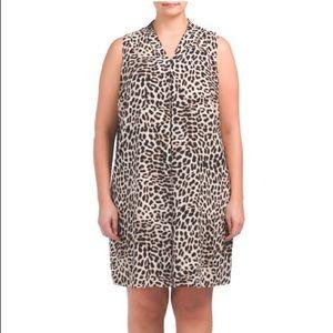 Vince Camuto plus song leopard print dress